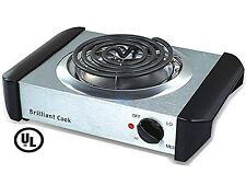 Stainless Steel Single Burner Electric Hot Plate Black Single Counter Burner ...