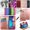 For Samsung Galaxy A20e A202F Wallet Cover Leather Case Flip Book + Touch Stylus
