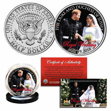 PRINCE HARRY & MEGHAN MARKLE Official Look of Love Photo Royal Wedding JFK Coin