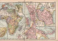 Landkarte map 1929. AFRIKA. ehemalige Deutsche Kolonien. Africa