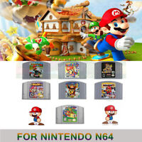 For Nintendo N64 Game Card Mario Kart Conker Bad MarioParty Bros Video Cartridge