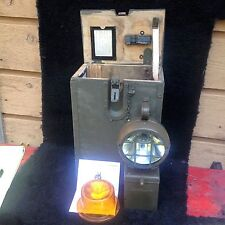 vintage German military utility lamp, in its own wooden box