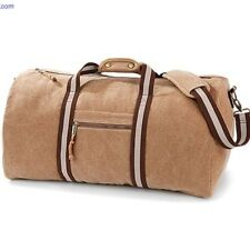 Canvas Sports Travel Weekend Overnight Gym Luggage Bag Holdall Sand Mens Mans