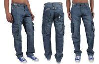 Brand New Mens EZ42 Enzo Branded Combat Jeans Sizes 30-48