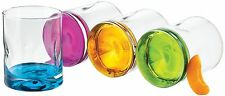 Libbey Multi-Color Glasses Set 4-Pc Old Fashioned Kitchen Drinking Bar Beverage