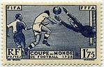 """FRANCE N°396 """"3e COUPE MONDIALE DE FOOTBALL A PARIS, 1 F 75"""" NEUF xxTTB"""
