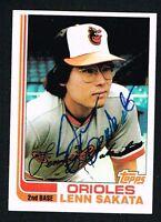 Lenn Sakata #136 signed autograph auto 1982 Topps Baseball Trading Card
