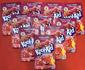 Kool-Aid Unsweetened Black Cherry Drink Mix 0.13 oz Packet [10 pack] 21FEB23