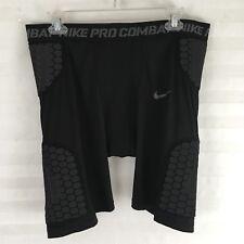 Mens L Nike Pro Combat Padded Football Shorts 584387-011 Black Volt Ret$120
