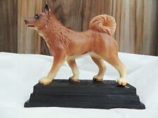VINTAGE CELLULOID DOG FIGURINE ~~ HUSKY MALAMUTE AKITA ELKHOUND SPITZ SAMOYED