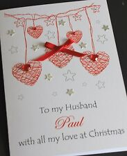 LARGE Handmade Personalised Christmas Card For Husband/Wife/Boyfriend/Girlfriend