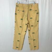 Vintage Knicker Golf Pants Yellow Crocodile Embroidered It's a Croc Custom Sized