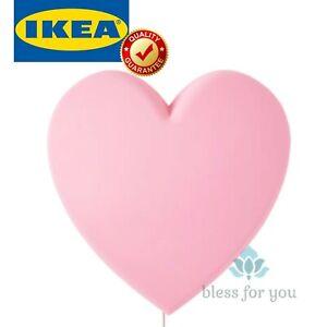 IKEA UPPLYST LED Wall Lamp Heart Pink