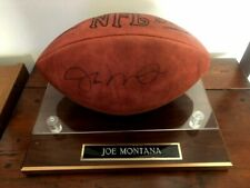 Joe Montana Upper Deck Authenticated Autographed Football with Display Base