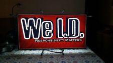 Budweiser WE I.D. neon bar sign