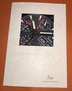 ORIGINAL Sinn brochure / catalog