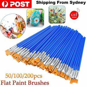 50-200pcs Flat Paint Brushes Small Brush Bulk for Detail Painting Craft Art Gift