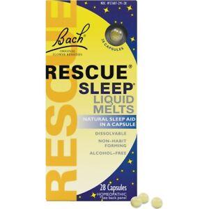 Bach Original Flower Remedies Rescue Sleep Liquid Melts 28 Caps