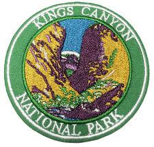 Kings Canyon National Park Embroidered Patch Iron/SewOn Applique Travel Souvenir