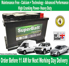 LAND ROVER, JAGUAR, FERRARI, FIAT, MERCEDES, VOLVO Car Battery SuperBatt 096