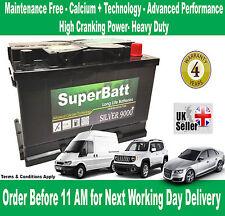 LAND ROVER, JAGUAR, FERRARI, FIAT, MERCEDES, VOLVO Car Battery SuperBatt 096