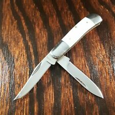 BROWNING KNIFE KNIVES #842 TRAPPER CRACKED ICE 2 BLADE  FOLDING POCKET