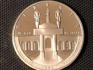 1984 LOS ANGELES XXIII ( OLYMPIAD MEMORIES )LIBERTY SILVER DOLLAR