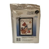 GOLDEN BEE CANDAMAR DESIGNS Counted Cross Stitch Kit FRAME HAPPY IS THE HEART