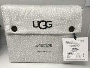 UGG Garment Wash 100% Cotton Percale Queen Sheet Size.