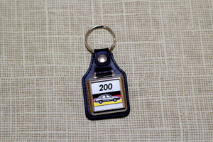 Audi 200 C3 Keyring - Leatherette and Chrome Keytag