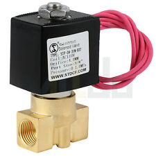38 Electric Brass Solenoid Valve Ac 110v Normally Closed For Water Air Fuel