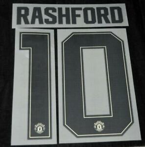 Manchester United 2019/20 Champions league/FA Cup Name/Number Rashford 10 A