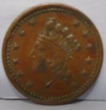 1864 Cilvil war token union forever patriotic shield 49/342a