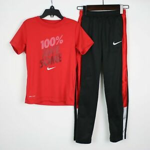 Lot of 2 NIKE Dri-Fit Boys Awesome Shirt Pants Outfit 7