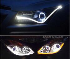 2X 60cm Flexible Car Switchback Headlight Tube LED Strip DRL Light White & Amber