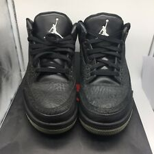 Nike AIR JORDAN 3 III Retro Flip Black Cement size 10.5 Black  Rare Jordan!