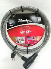 Master Lock 6ft 10mm Keyed Cable Lock with 2 Keys 8154DPF New