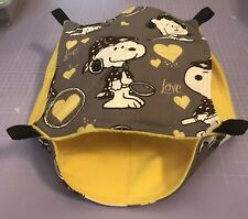 New Double Decker Quilted Hammock For Rats+small Animals. SNOOPY + YELLOW FLEECE
