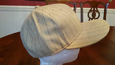 FINL 365 Finish Line Ball Cap in Khaki Tan with Stripes Size 7 3/8 Large New