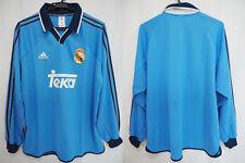 1999-2000-2001 Real Madrid Player Equipment Jersey Shirt Camiseta Third L/S XL