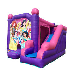 Jumping Castle Pink Combo Princesses Jumping Area Slide Party Event *HIRE ONLY*