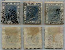 REGNO - 1867 - U - 20 cent BIGOLA tre colori diversi (T26/T26a/T26b)
