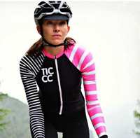 Women Long Sleeve Cycling Jersey Clothing/ Pro Team Mountain Road Triathlon  Bic