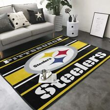 Pittsburgh Steelers Area Rug Floor Carpet Super Soft Non-Slip Mat Home Decor