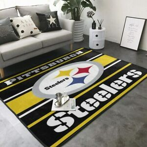 Pittsburgh Steelers Area Rug Floor Carpet Super Soft Non-Slip Mat Home Decor