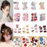 5Pcs Cute Kids Baby Girl Hair Clips Set Bowknot Heart Crown Headwear Hairpins