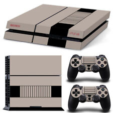 Old NES Retro Decal Cover Skin Sticker For PS4 PlayStation Console& 2 Controller