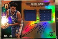 2015-16 PANINI GOLD STANDARD JAHLIL OKAFOR AUTO RC Dual JERSEY RELIC 50/149 B12