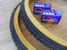 Pair of Duro 26x2.10 Gum Wall Mountain Bicycle Tires with Two 2 Duro inner tubes