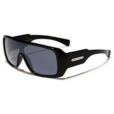 Biohazard Goggle Style Black Mens Designer Sunglasses Amplifier Shades New
